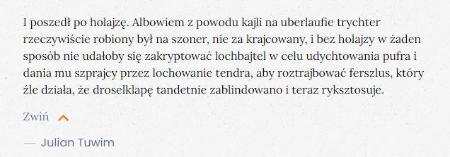 Julian Tuwim Holajza ślusarz