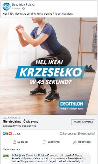 IKEA Decathlon social media