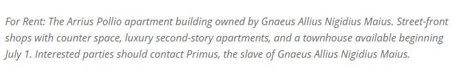 Graffiti pompeje - historia copywritingu